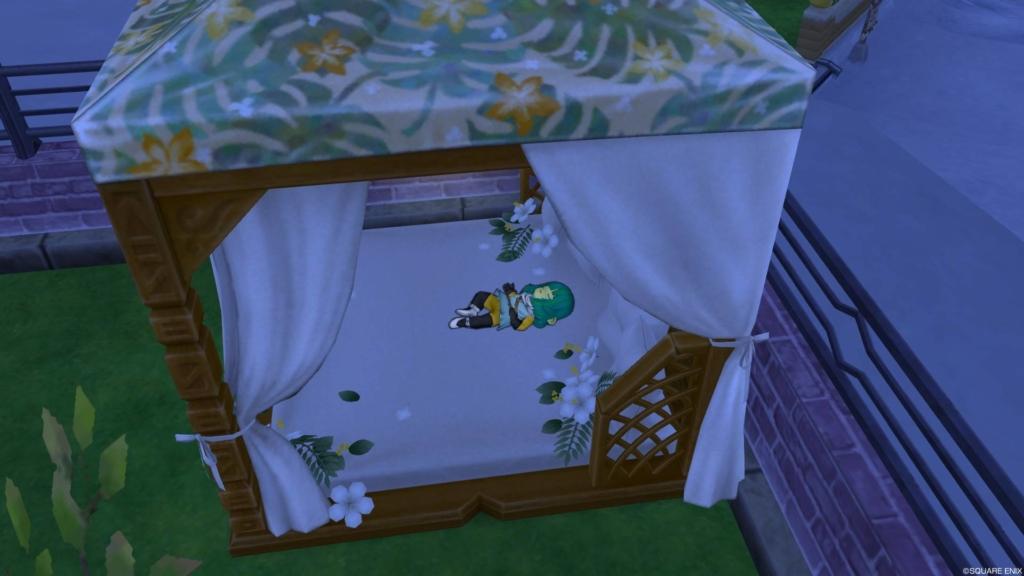 お庭用天蓋付きベッド
